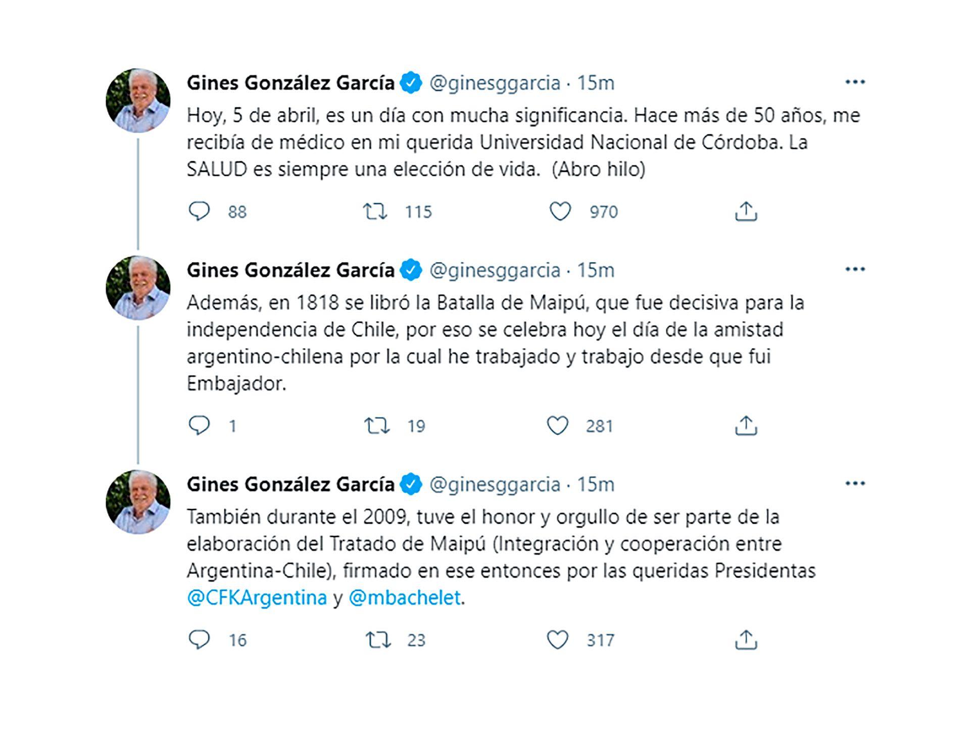 Ginés González García Cristina Kirchner