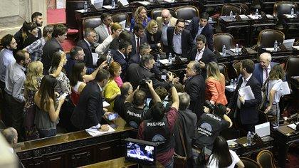 Una imagen que dejó el último jueves la sesión en Diputados (Gustavo Gavotti)
