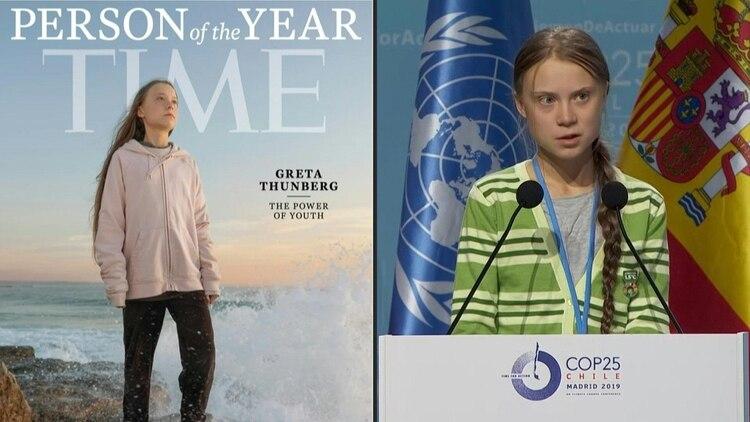 La activista ambiental Greta Thunberg, una adolescente sueca de 16 años, fue elegida como la personalidad del año 2019 de la revista Time, que la colocó en su portada con el título