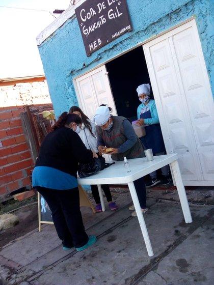 "El comedor Copa de Leche Gauchito Gil, donde ""El Viejo"" Cantero fijó domicilio."