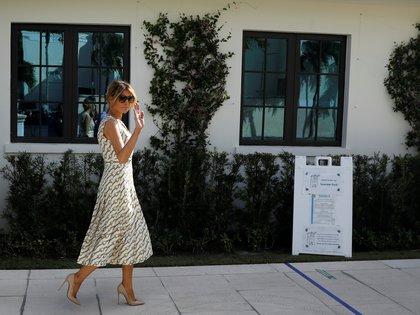 Melania Trump emitió su voto en Florida. REUTERS/Marco Bello
