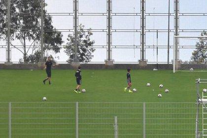 Cristiano Ronaldo se entrenó en un estadio de la Isla de Madeira