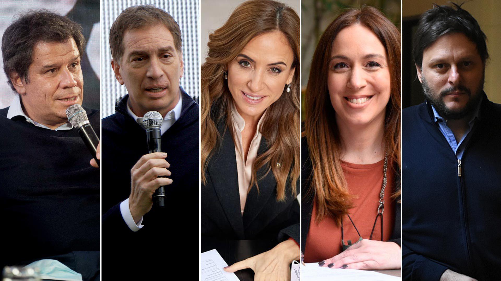Facundo Manes, Diego Santilli, Victoria Tolosa Paz, María Eugenia Vidal y Leandro Santoro