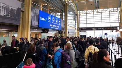 """Las filas en los aeropuertos son cada vez más largas: los trabajadores de seguridad no reciben sueldo y muchos se declaran """"enfermos"""" (Reuters)"""