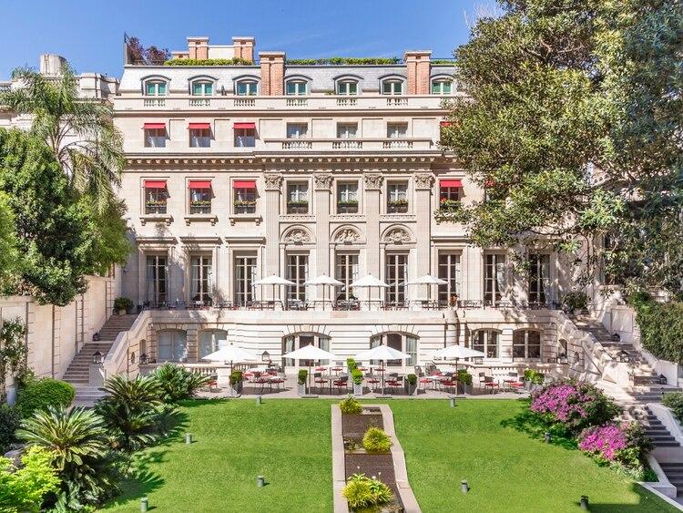 Vista del patio interior del Palacio Duhau (Park Hyatt Buenos Aires)