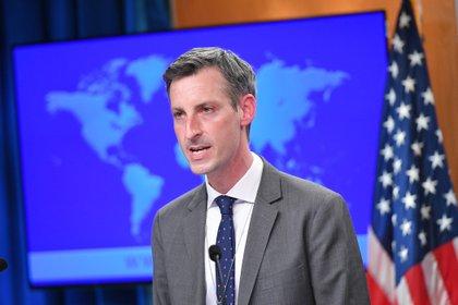 El vocero del departamento de Estado de EEUU, Ned Price.