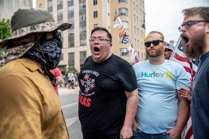 Protesta en Texas contra el uso de mascarillas (Reuters)