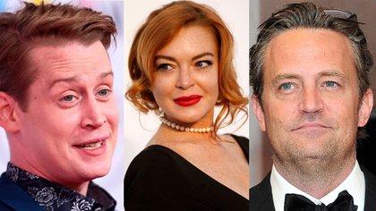 Macaulay Culkin, Lindsay Lohan y Matthew Perry se hundieron en el píco de sus popularidad pero luego lograron salir a flote (Fotos: Reuters -  Ron Sachs / CNP)