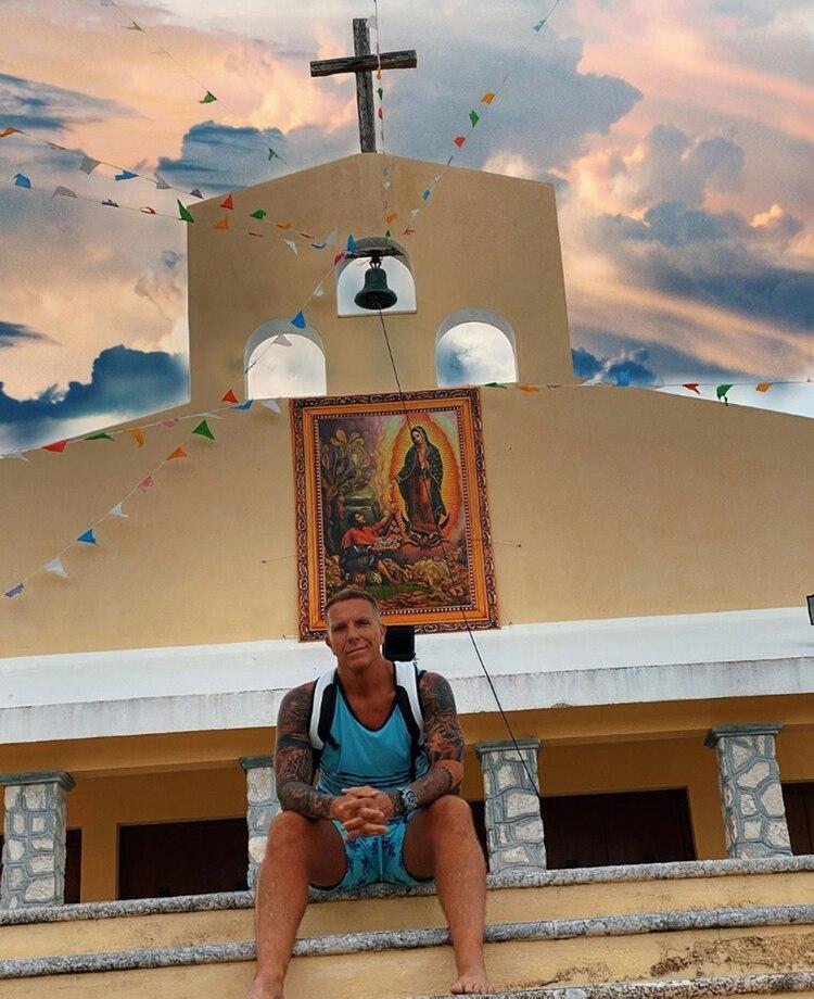 Fantino, en una iglesia en Yucatán (Instagram)