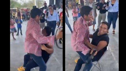 Sin pudor: candidato de RSP a la gubernatura de San Luis Potosí hizo striptease a simpatizante