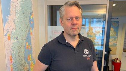 El comisario Morgan Neijnes, miembro de la Policía Nacional sueca