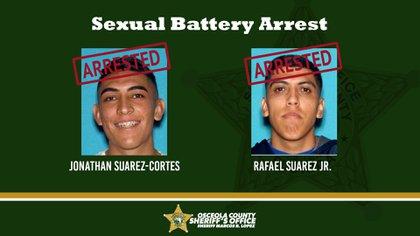 La oficina del Sheriff del condado de Osceola notificaron la detención de los presuntos agresores (Foto: osceolasheriff.org)