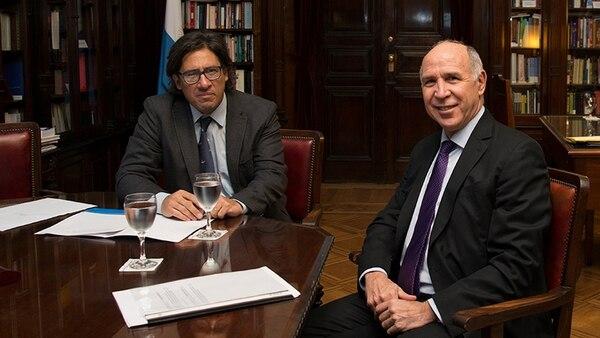 El ministro de Justicia, Germán Garavano, y el presidente de la Corte Suprema, Ricardo Lorenzetti