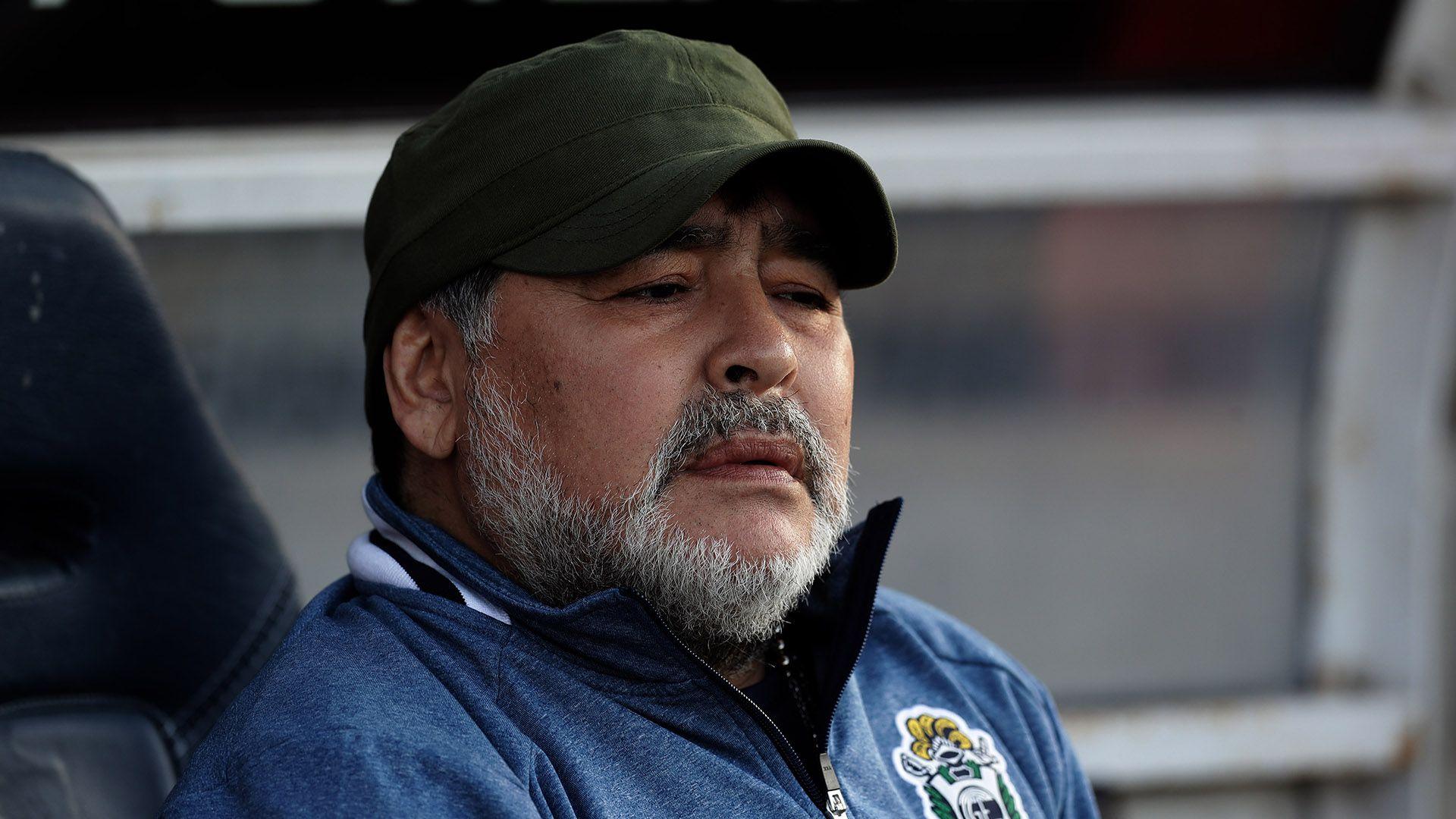 Diego acumula ocho partidos en el banco de Gimnasia, donde generó una verdadera revolución (Foto: ALEJANDRO PAGNI / AFP)