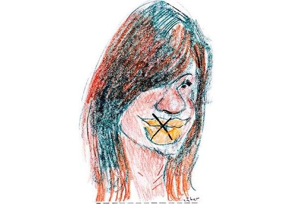 Cristina Kirchner, por Sabat. Una de las ilustraciones que molestó al ex Presidente.