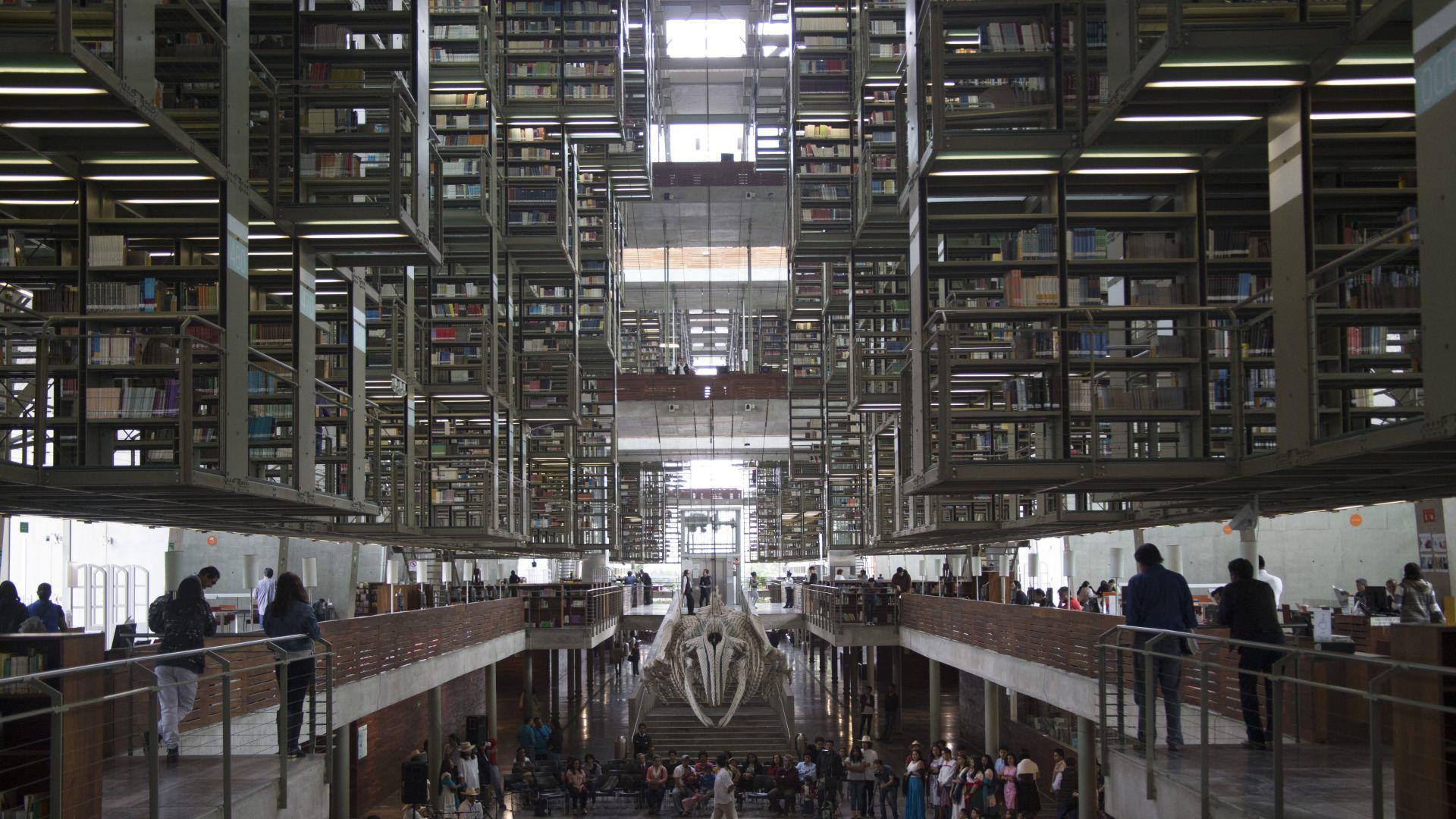 La biblioteca más grande del país lleva su nombre, José Vasconcelos, y se ubica en la Ciudad de México (Foto: Cuartoscuro)