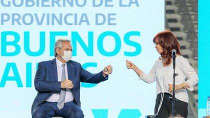 El acto que compartieron Alberto Fernández con Cristina Kirchner en La Plata.
