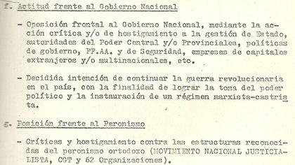 Informe de inteligencia de 1974