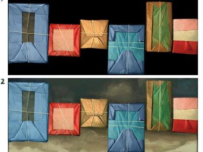Su icónica serie de paquetes envueltos en papel y atados con una cuerda le dio notoriedad a partir de la década de 1960.
