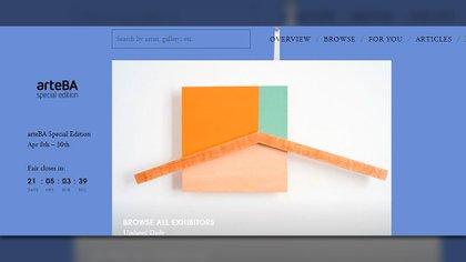 Front de arteBA Special Edition en la plataforma Artsy