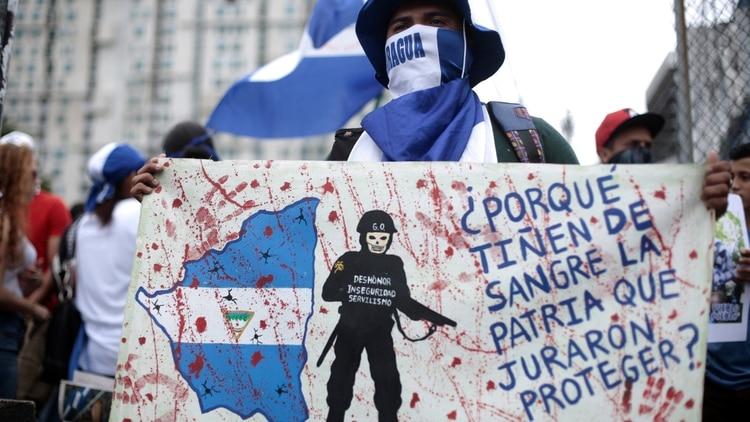 Protesta contra el régimen de Ortega en Nicaragua