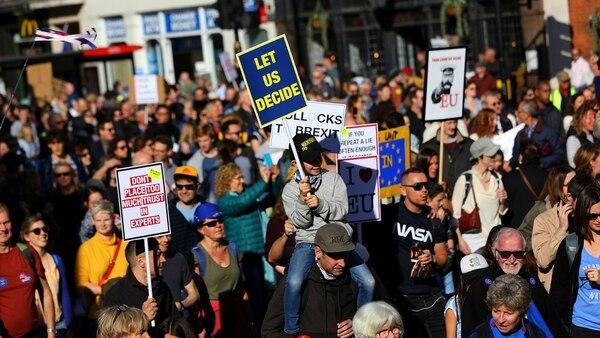 Más de medio millón de personas marcharon en Londres (REUTERS/Simon Dawson)
