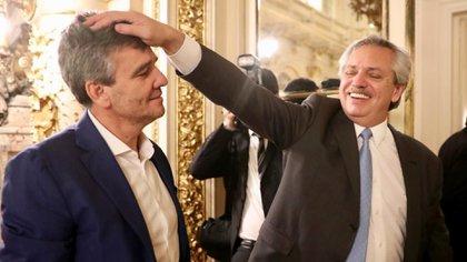 Alberto Fernández y el intendente de Hurlingham