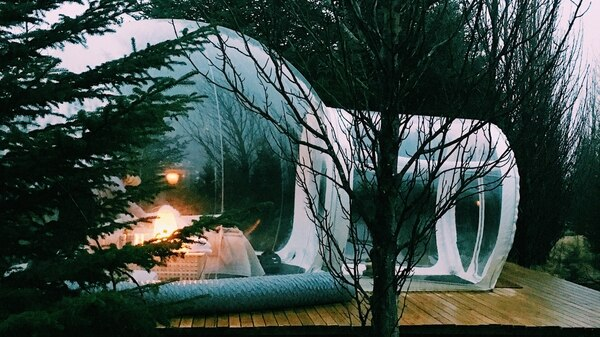 """""""The Bubble"""" un alojamiento de The 5 Million Star Hotel, que ofrece a los huéspedes un asiento de primera fila para disfrutar del exquisito cielo nocturno del país del Norte"""