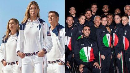 El equipo de USA por Ralph Lauren y el equipo de Italia por Giorgio Armani