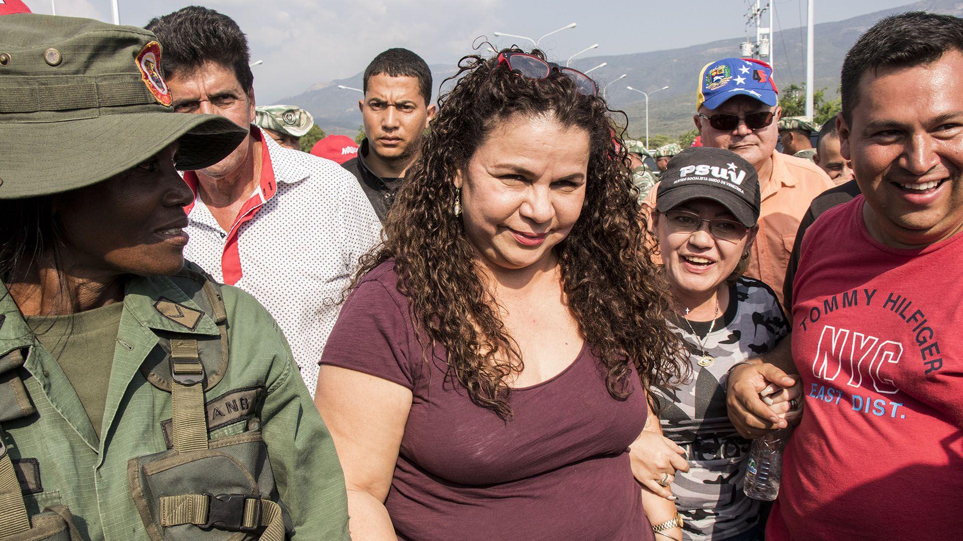 La ministra de Prisiones, Iris Varela (Elyxandro Cegarra/ZUMA Wire/Shutterstock)
