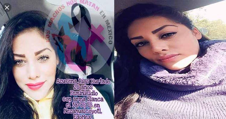 Azucena tenía 20 años cuando fue asesinada en Nezahualcoyotl Foto: Facebook