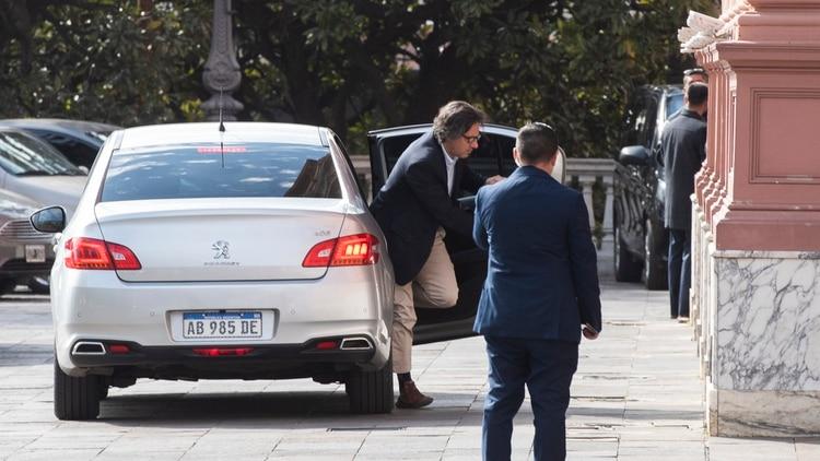 Ministro Germán Garavano al llegar a Casa Rosada. Archivo. (Adrián Escandar)