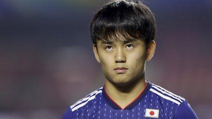 Kubo, en la Copa América, donde defendió los colores de Japón, su seleccionado (AP Photo/Andre Penner)