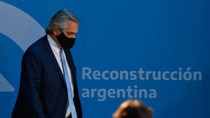 Alberto Fernández en la Casa Rosada. (Maximiliano Luna)