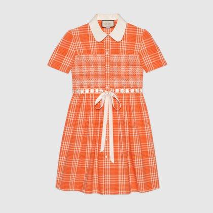 El vestido de mangas cortas anaranjado by Gucci