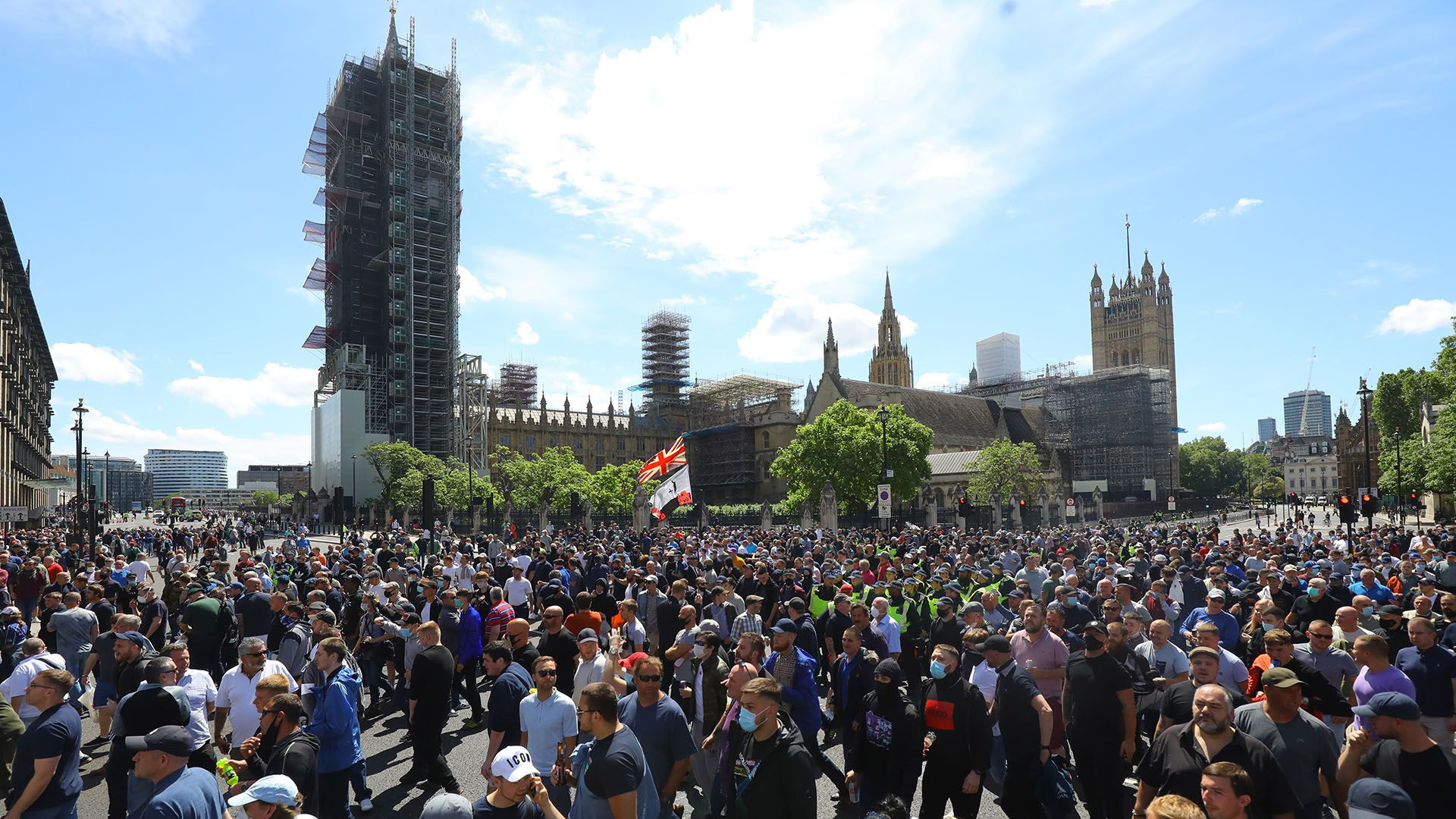 protestas antiracistas en reino unido