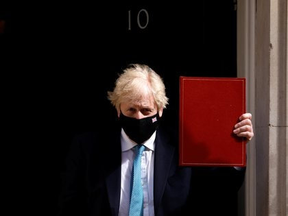 British Prime Minister Boris Johnson leaves Downing Street for the state opening of Parliament at the Palace of Westminster, where a reduced ceremony due to coronavirus disease (COVID-19) restrictions will take place, in London, Great Britain, May 11, 2021. REUTERS / John Sibley