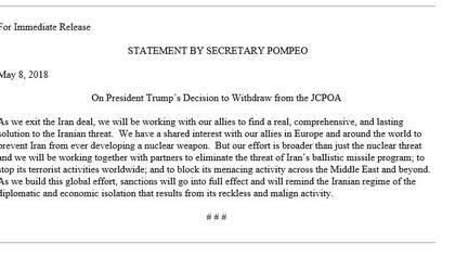 El comunicado oficial de la Casa Blanca