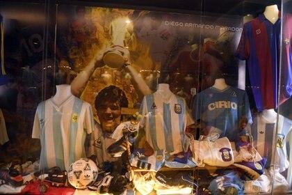 El sector dedicado a Diego Armando Maradona del Museo Legends (Maximiliano Luna)