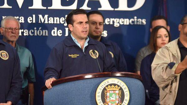El gobernador de Puerto Rico declaró el toque de queda tras el paso del huracán María