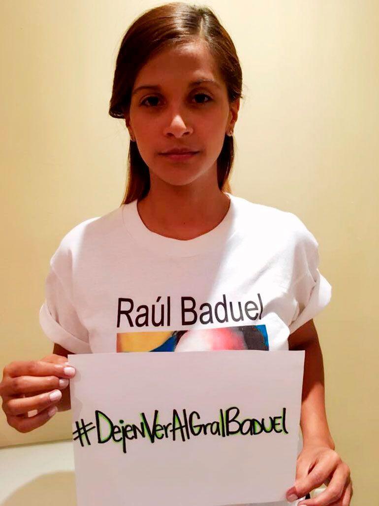 Margareth Baduel, hija del general venezolano detenido arbitrariamente en el Fuerte Tiuna