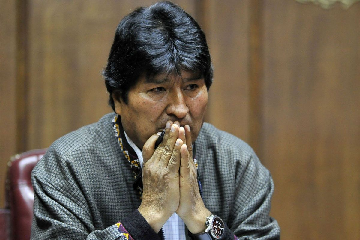 El conato de bronca entre simpatizantes y detractores del expresidente de Bolivia quedó registrado en vídeo.