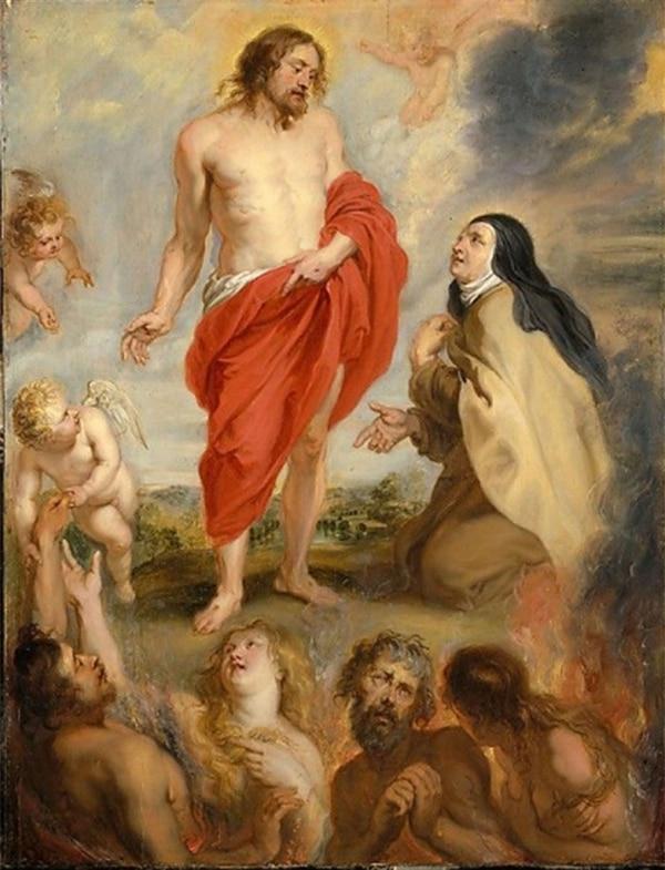 Santa Teresa de Avila intercediendo por las almas en el Purgatorio (Peter Paul Rubens)