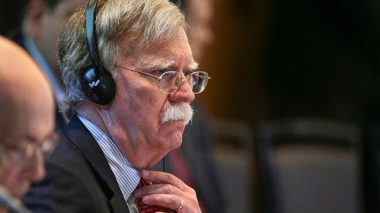 """El mes pasado, Bolton participó de la """"Conferencia Internacional por la Democracia en Venezuela"""", realizada en Lima (REUTERS/Guadalupe Pardo)"""