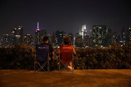 Una pareja disfruta de los festejos del 4 de julio en Nueva York