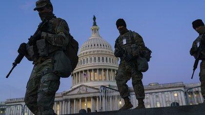 Tropas de la Guardia Nacional en el Capitolio (AP /J. Scott Applewhite)