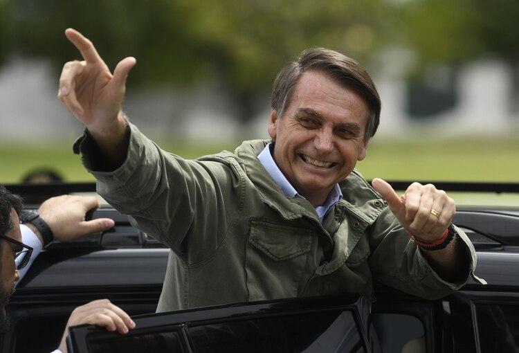 Jair Bolsonaro en una foto de octubre 2018 (Mauro PIMENTEL / AFP)