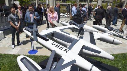 El prototipo fue presentado en el marco de Uber Elevate, un evento que hizo la compañía en Los Ángeles (AFP)