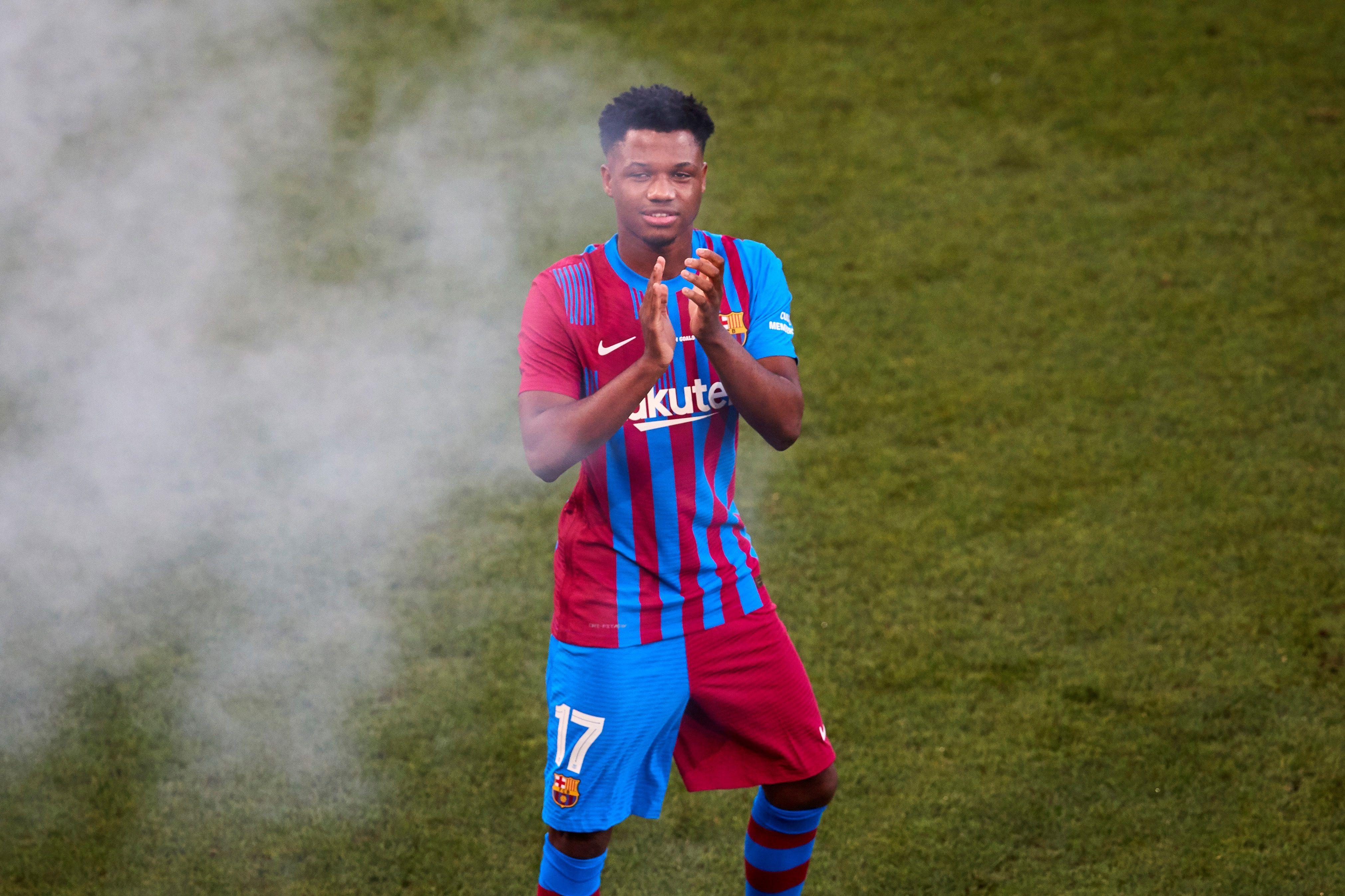 El jugador del FC Barcelona Ansu Fati. EFE/Alejandro García/Archivo