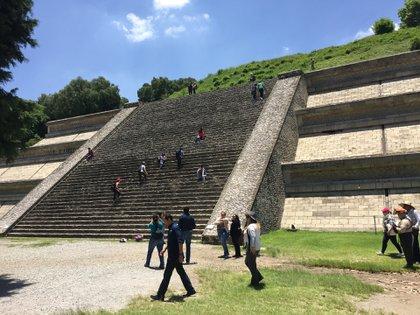 Uno de los accesos a la Gran Pirámide de Cholula. (Foto: Infobae)